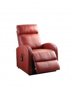 Faux Leather Power Motion Lift Recliner in Red
