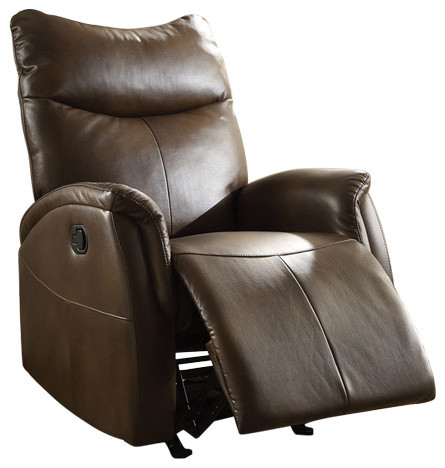 "30"" X 36"" X 41"" Brown Leather-Aire Motion Recliner"