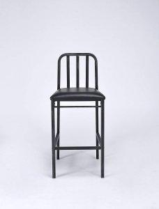 "20"" X 19"" X 41"" 2pc Black And Antique Black Bar Chair"