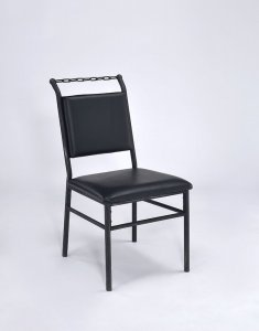Industrial Chain Upholstered Chair