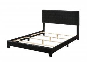 """85"""" X 64"""" X 47"""" Queen Black Pu Bed"""