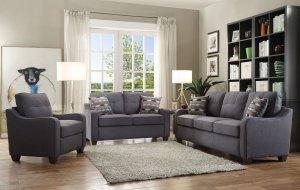 """70"""" X 31"""" X 35"""" Gray Linen Sofa With 2 Pillows"""