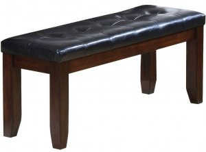 "48"" X 17"" X 20"" Black  And Espresso Elegant Bench"