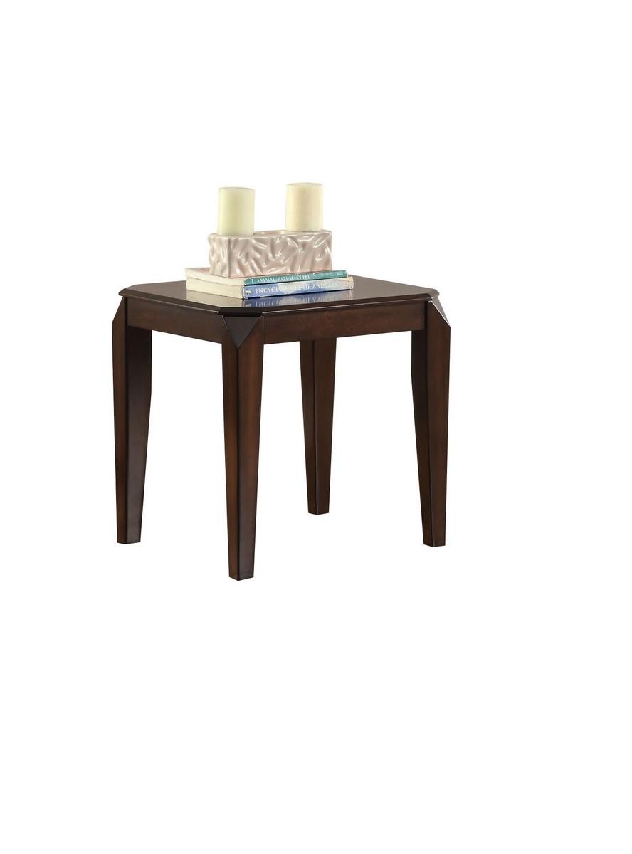 """23"""" X 23"""" X 23"""" Walnut Poplar Wood End Table"""