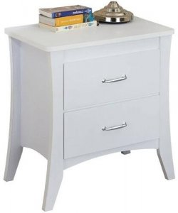 """24"""" X 16"""" X 25"""" White Particle Board Nightstand"""