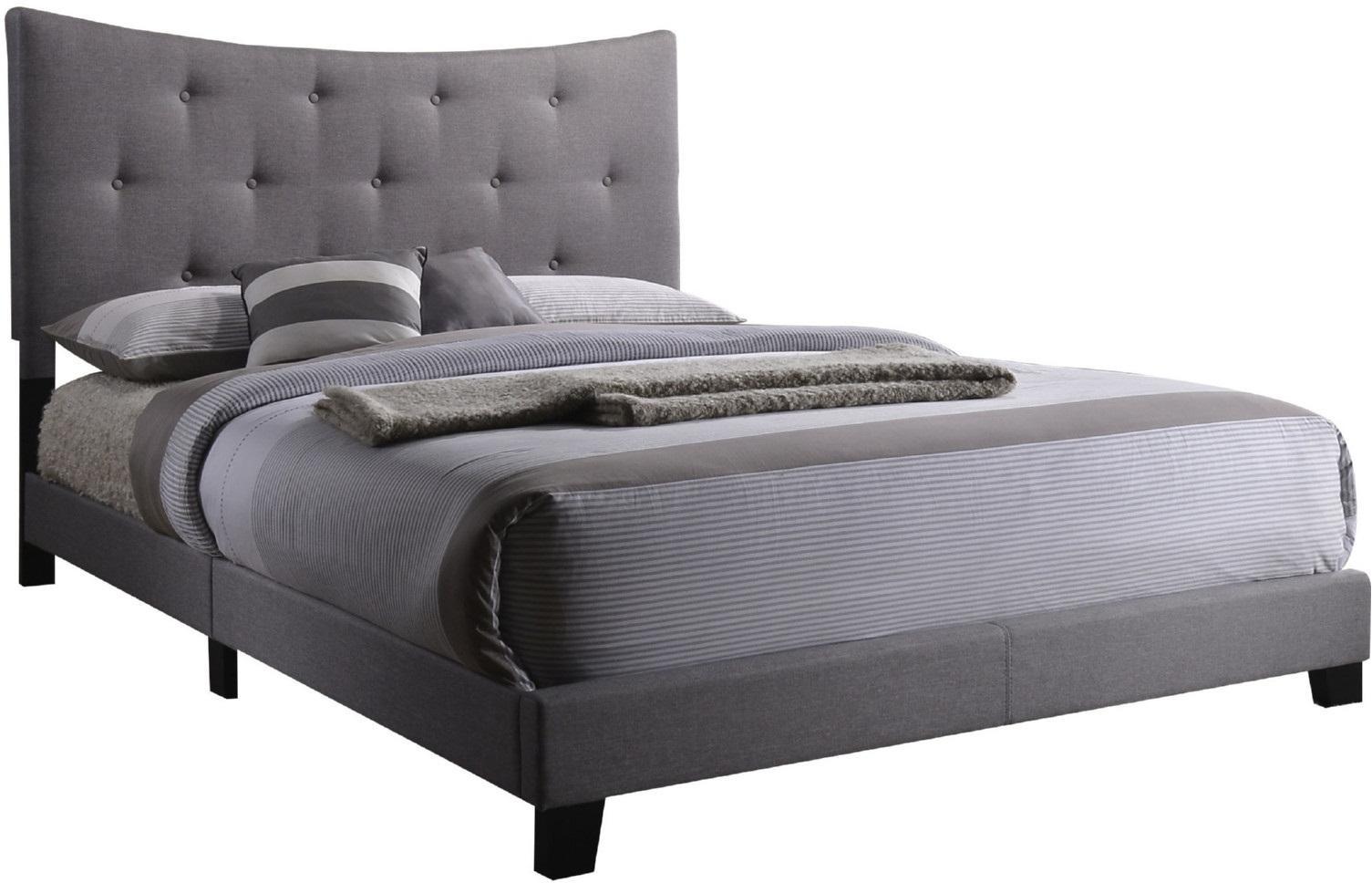 "83"" X 64"" X 48"" Queen Gray Fabric Bed"
