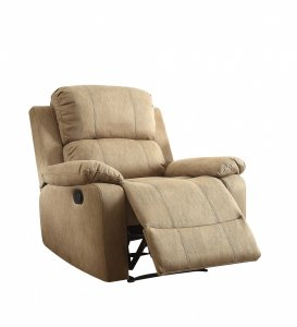 "38"" X 38"" X 39"" Brown Polished Microfiber Fabric Recliner"