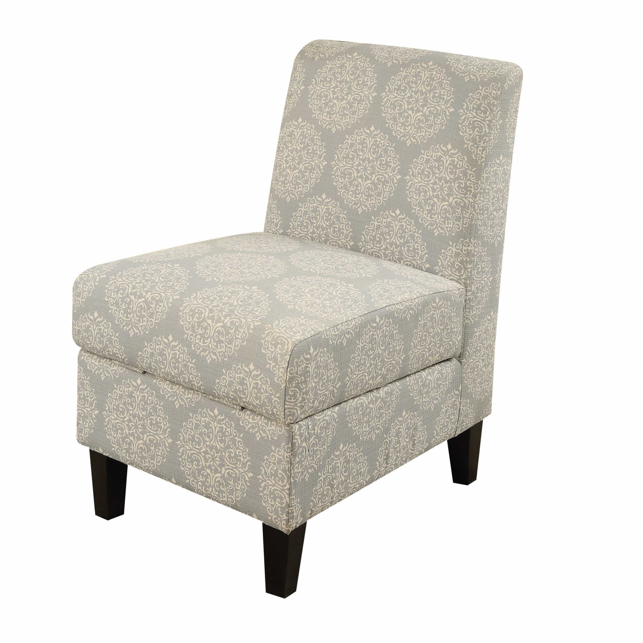 """22"""" X 30"""" X 36"""" Hexagon Pattern Accent Chair With Storage"""