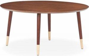 "35"" X 35"" X 17"" Walnut Mid-Century Modern Coffee Table"