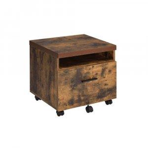 "18.89"" X 15.74"" X 25.23"" Weathered Oak File Cabinet"