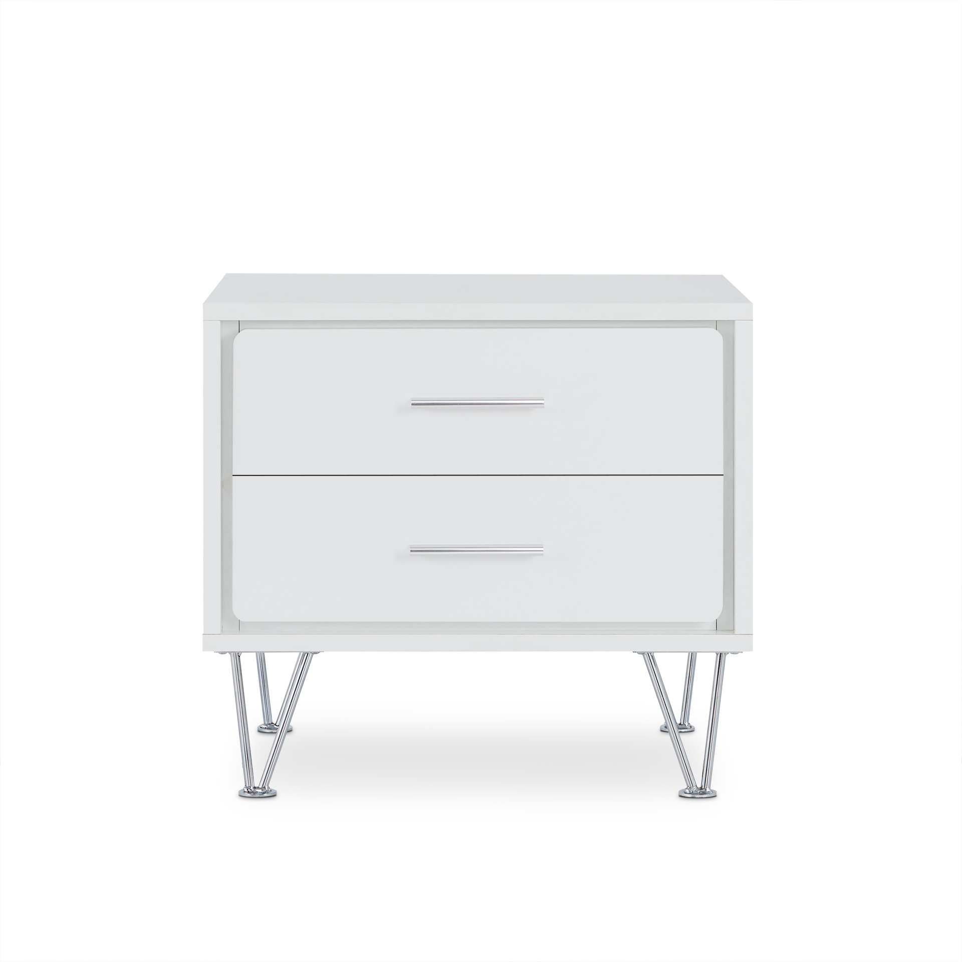 """19.69"""" X 15.75"""" X 17.93"""" White Particle Board Nightstand"""