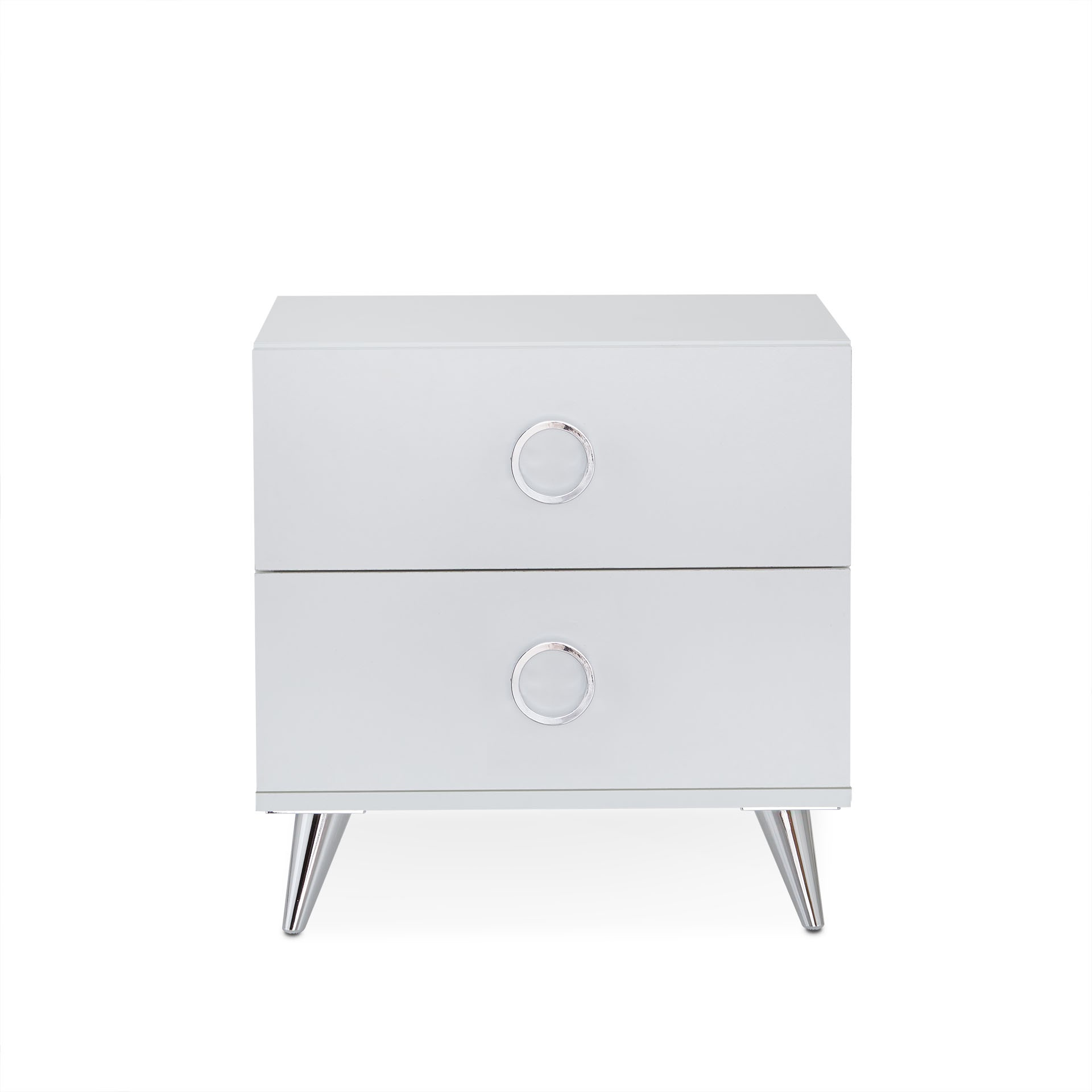 """19.69"""" X 16.61"""" X 19.76"""" White Particle Board Nightstand"""