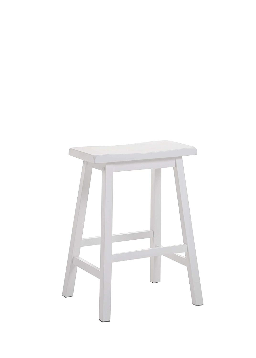 """24"""" White Counter Height Stool"""