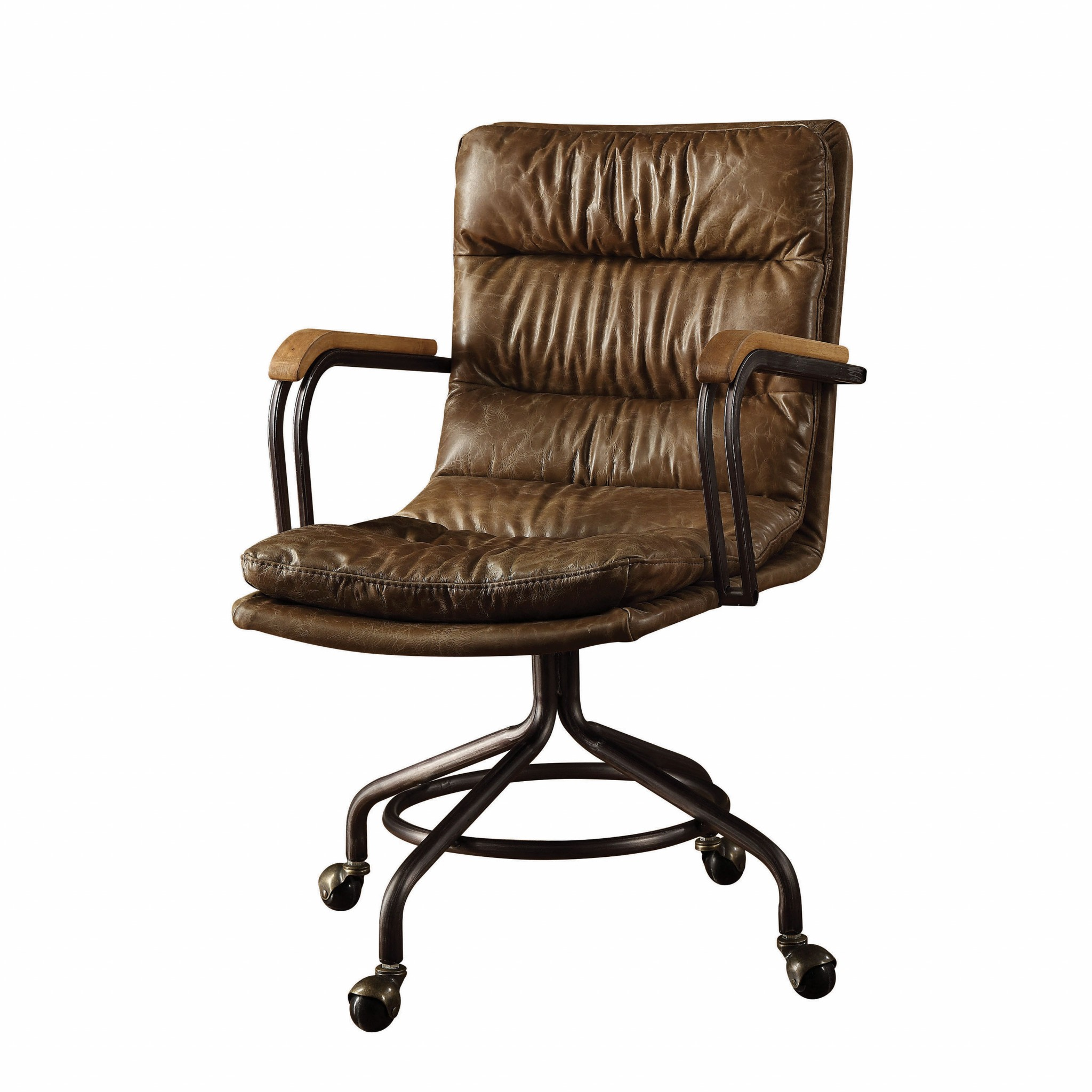Leather Office Chair In Vintage Whiskey - Top Grain Leather, Foam,  Vintage Whiskey
