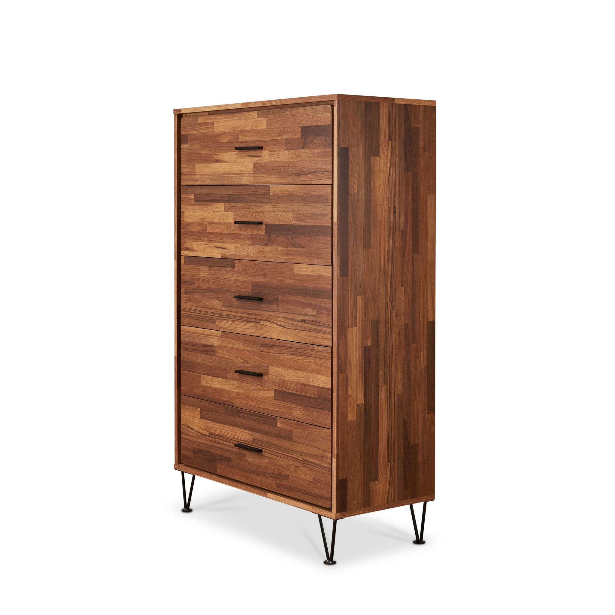 Chest In Walnut - Particle Board, Mdf, Meta Walnut