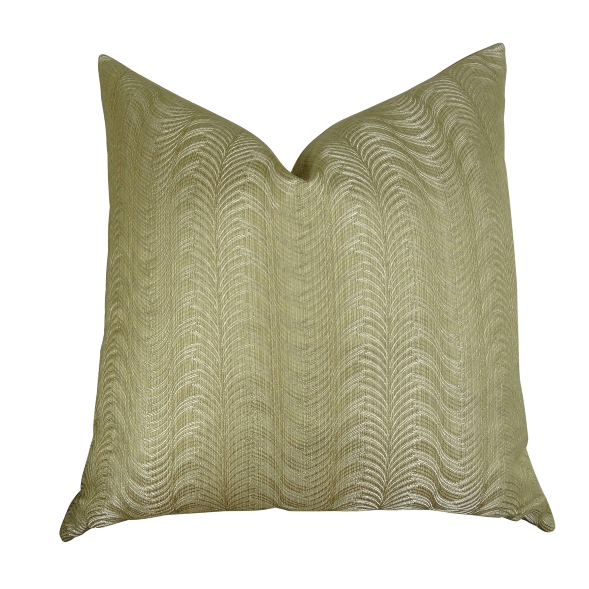 Delicate Waves Handmade Throw Pillow