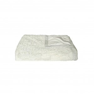 """50"""" x 70"""" Ivory Mink Faux Hide Throw"""