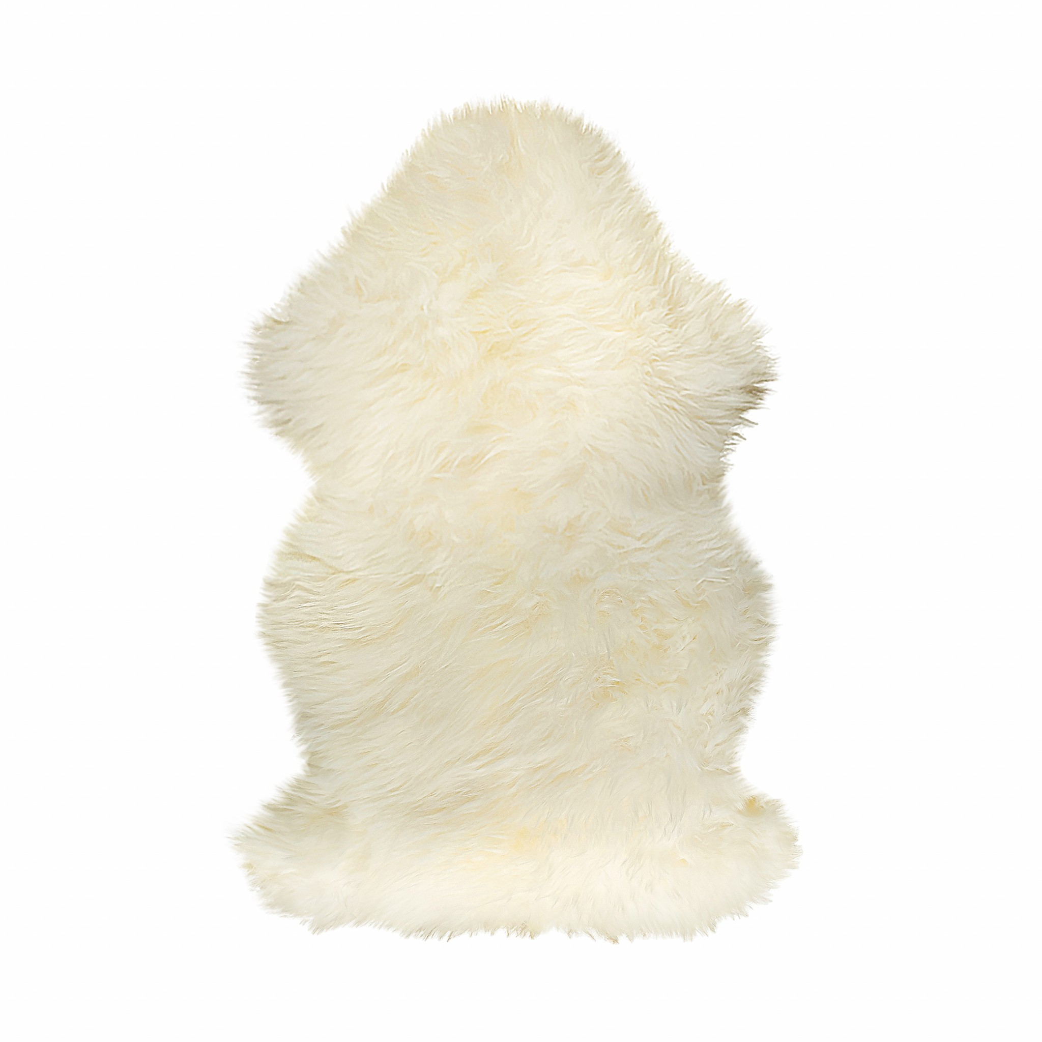 2' X 3' Natural Single Sheepskin Area Rug