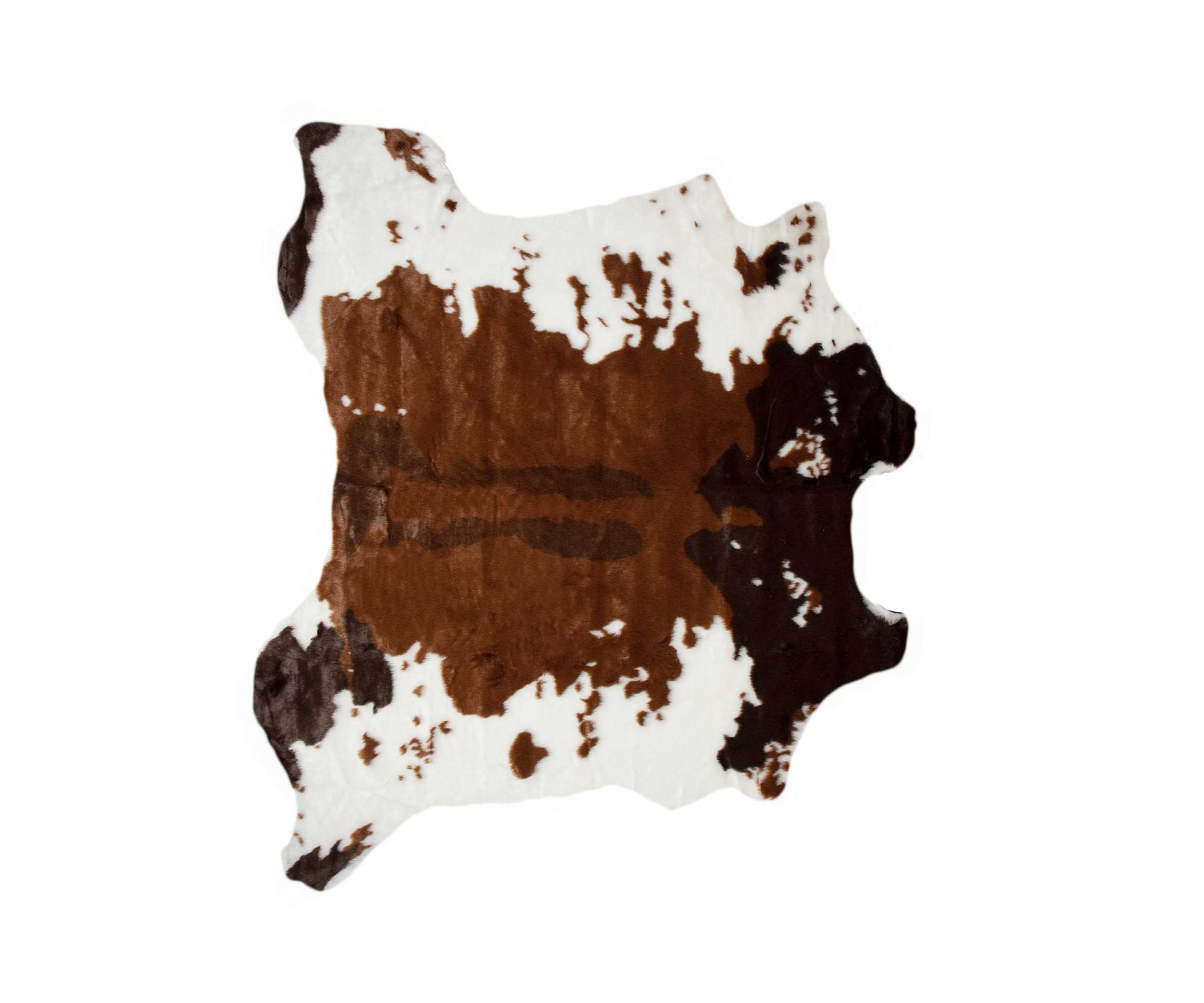 """51"""" x  60"""" Brownsville Chocolate And White, Faux Hide - Area Rug"""