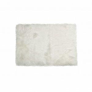 "60"" x 96"" x 1.5"" Off White, Faux Fur, Rectangular - Area Rug"