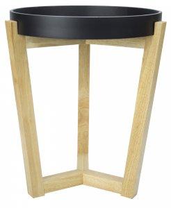 "16"" X 16"" X 20"" Black MDF, Wood End Table"