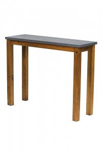 "39.5"" X 14"" X 31.5"" Acacia And Cement MDF Wood Acacia Console Table"