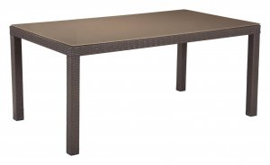 """67.7"""" X 37.8"""" X 29.9"""" Cocoa Tempered Glass Dining Table"""