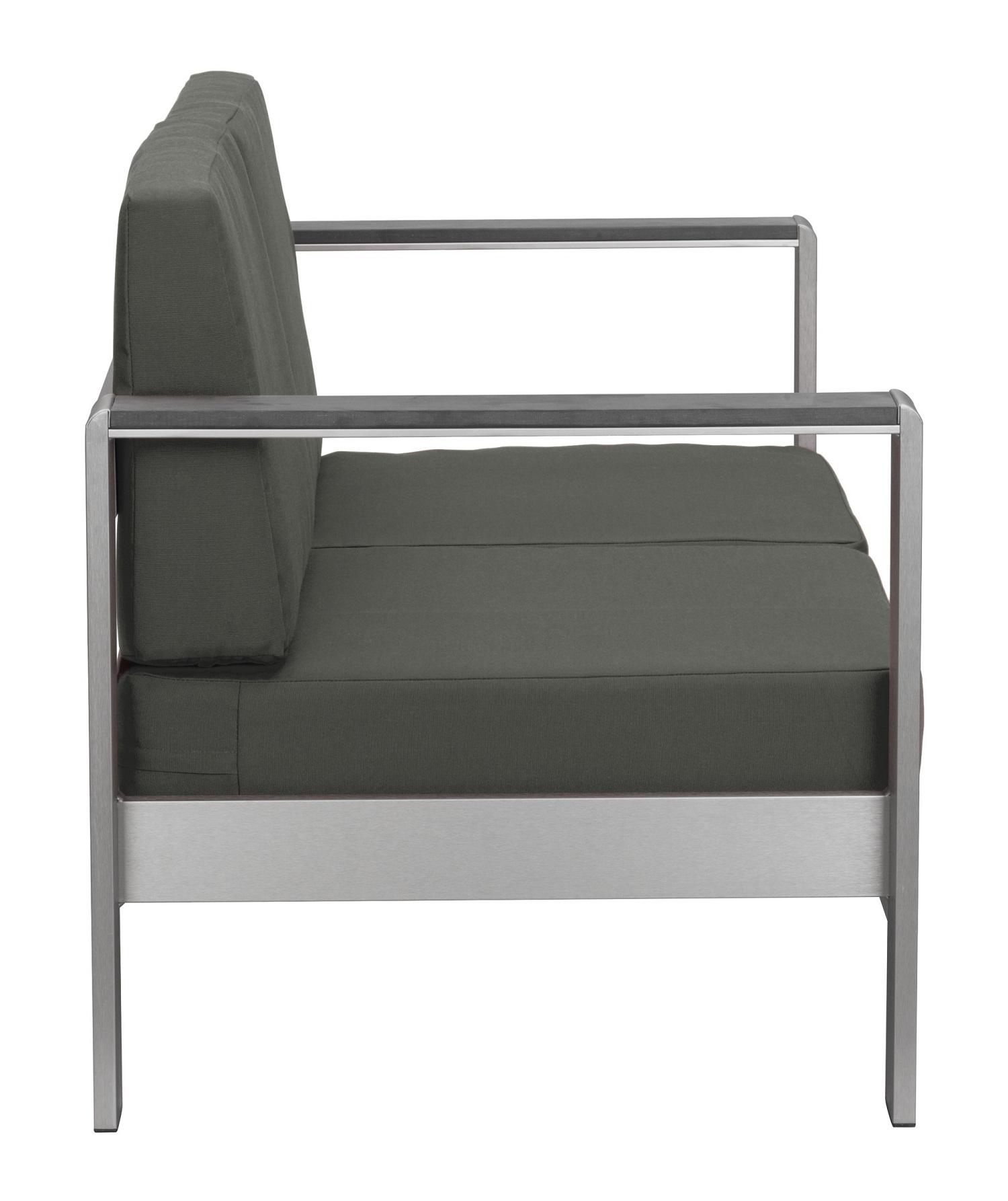 """49"""" X 26.5"""" X 22"""" Dark Gray Cushions Sofa"""