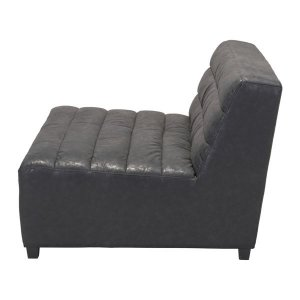 "55.1"" X 41.3"" X 29.1"" Black Functional Loveseat"