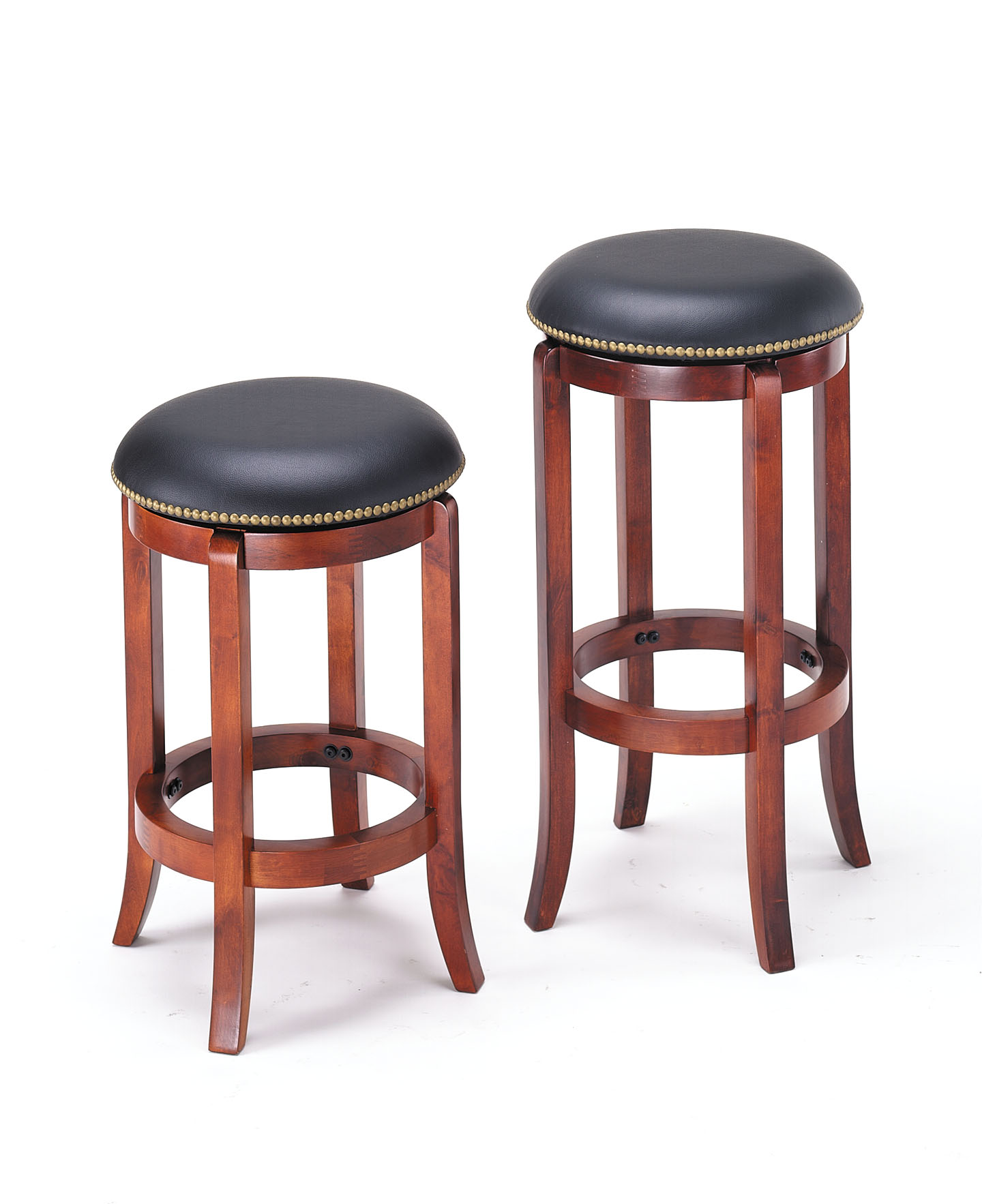 Counter Height Stool with Swivel - Oak Brown