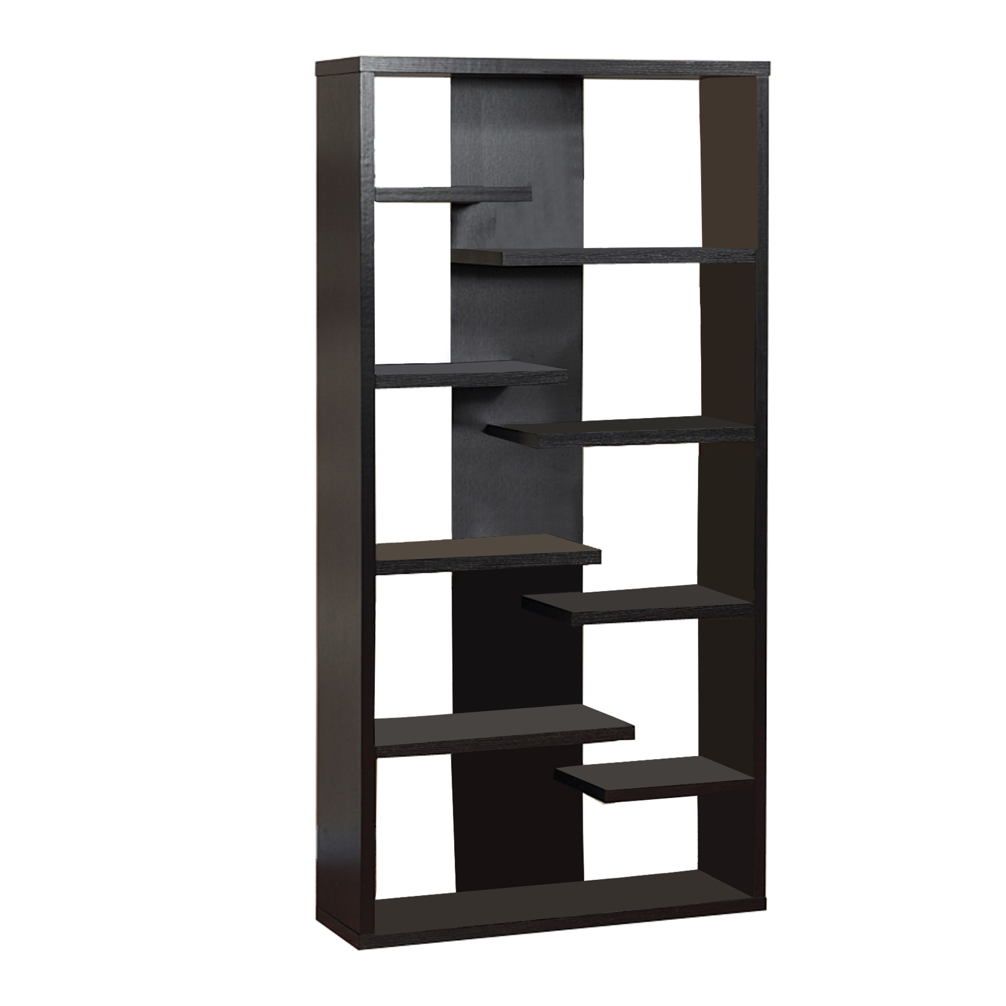 Well- Designed Contemporary Bookcase, Black