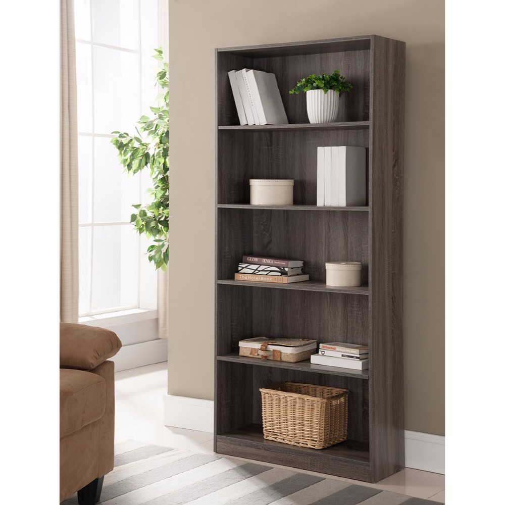 Splendid Space Efficient Bookcase, Gray