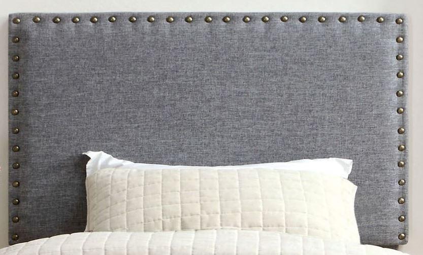 Contemporary Full Queen Headboard, Gray