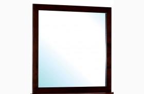 Contemporary Style Cherry Mirror