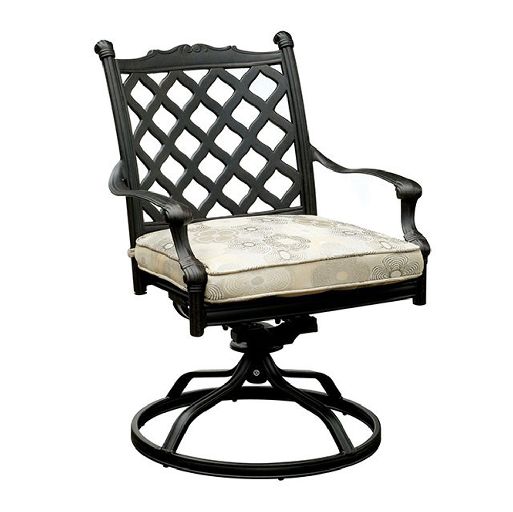 Contemporary Metal Swivel Rocker Chair, Set Of 2
