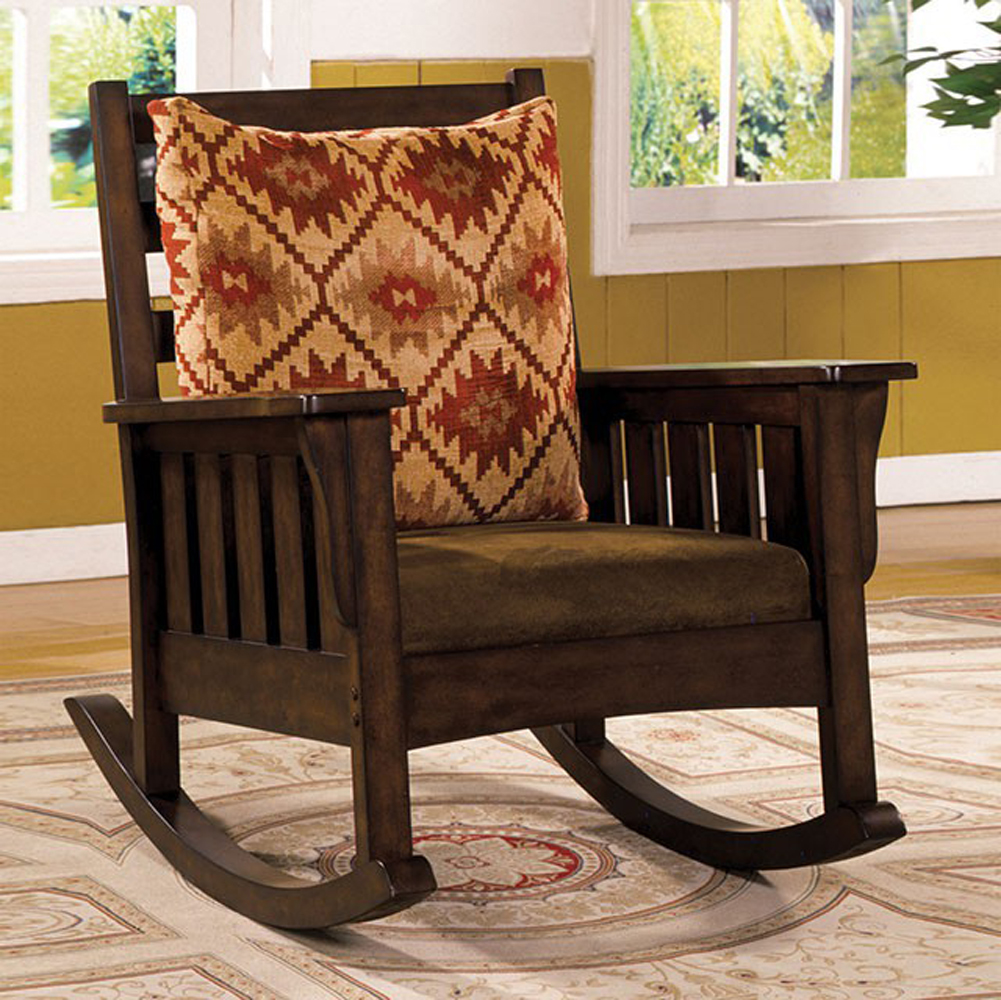 Traditional Accent Chair, Dark Oak