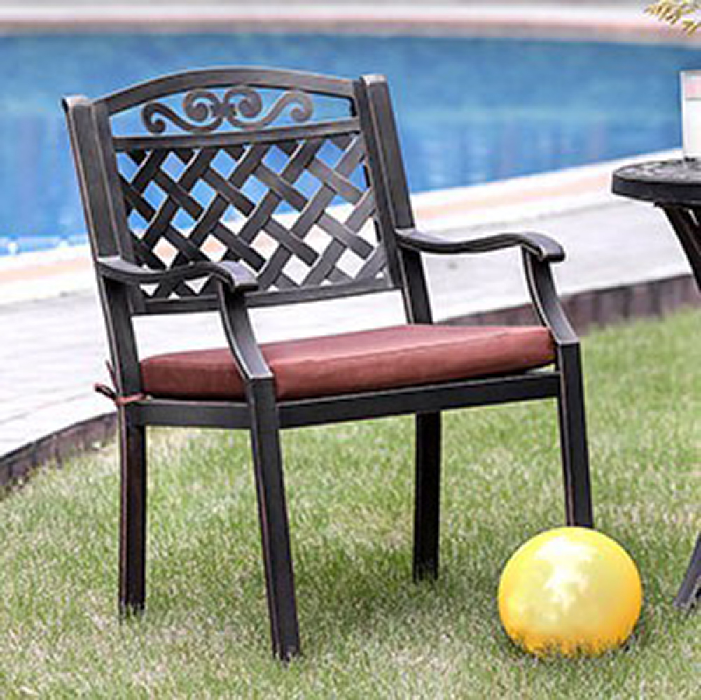 Transitional Arm Chair, Pack Of 2, Antique Brass