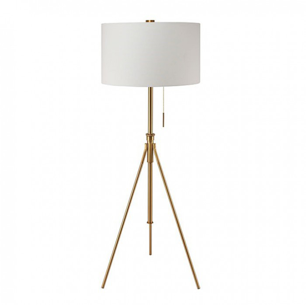 Contemporary Style Floor Lamp, Gold