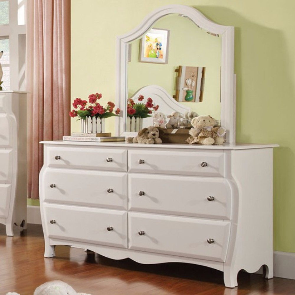 Fascinating Cottage Style Wooden Dresser For Kids, White
