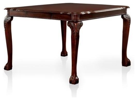 II Traditional Style Counter Height Table, Cherry