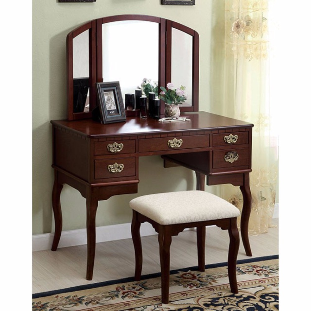 Traditional Style Vanity Table, Cherry