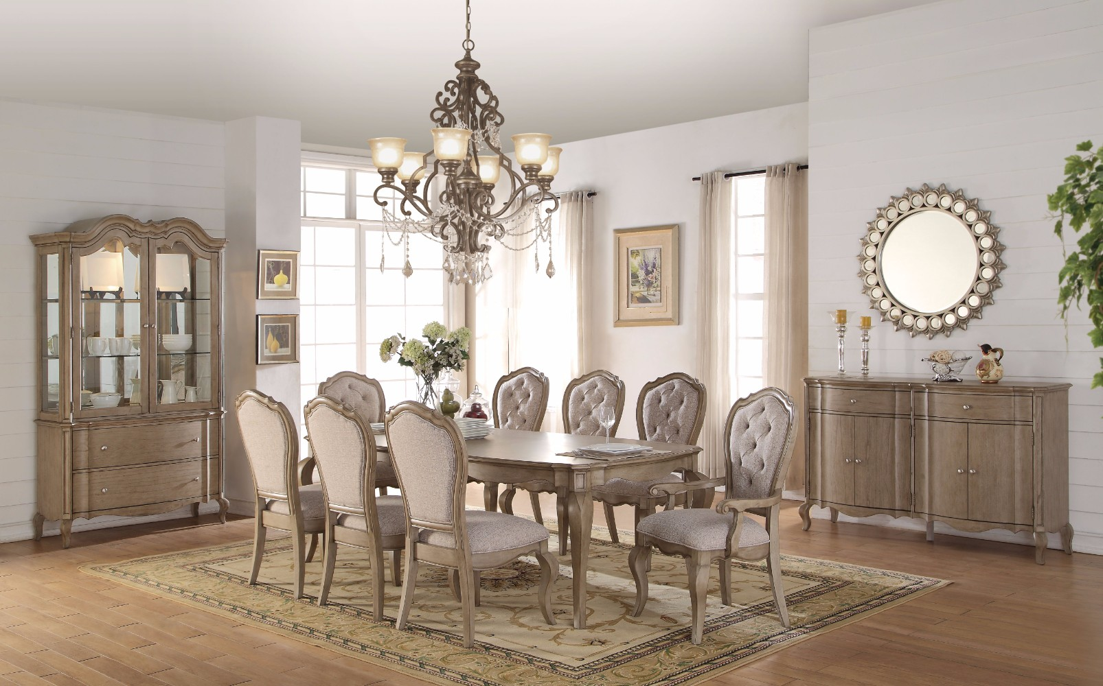Smart Looking Dining Table, Antique Brown