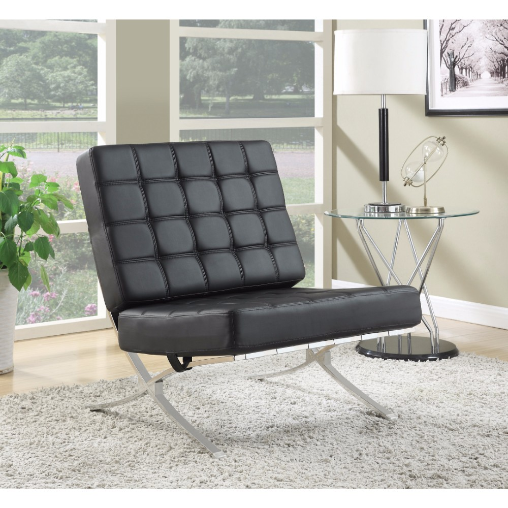 Comfy Fine Accent Chair, Black