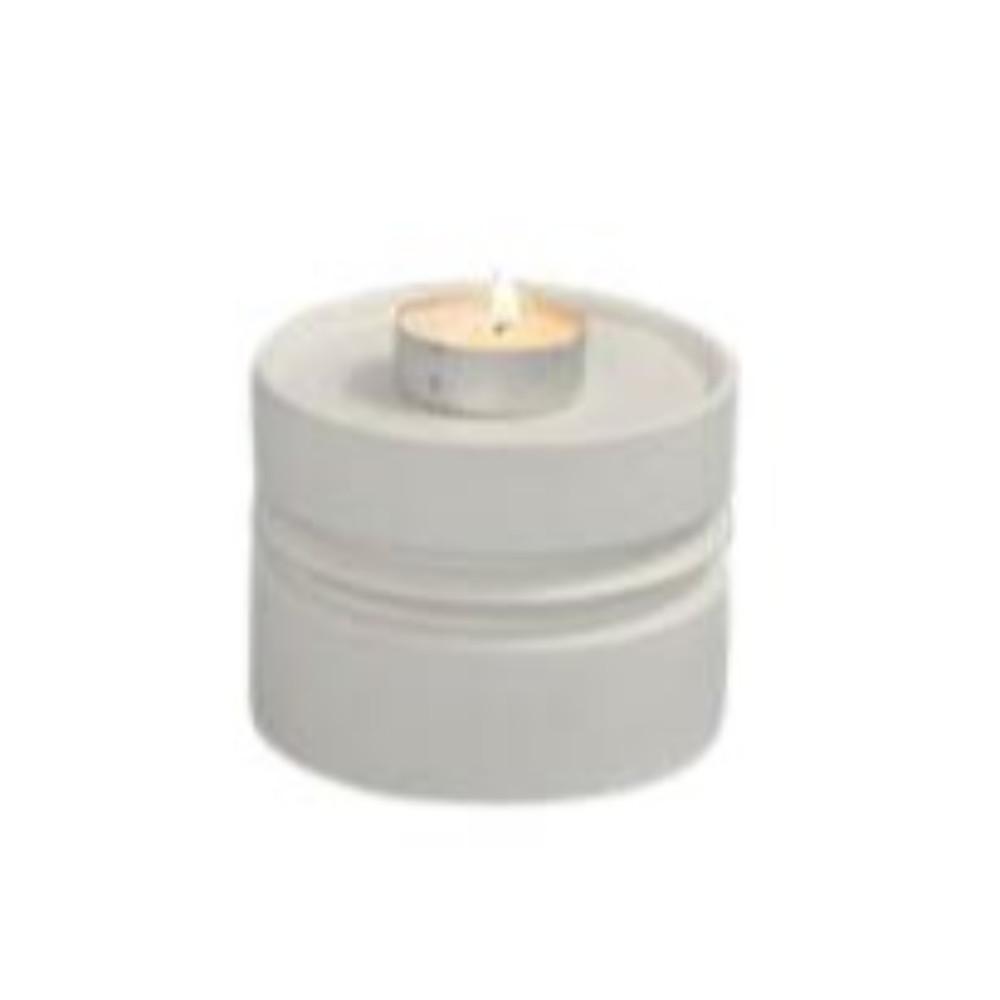 Quaint White Ceramic Pillar Candle Holder