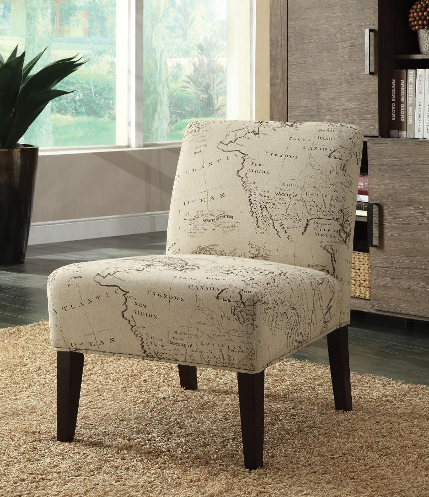 Pleasant Wooden Fabric Accent Chair Multicolor Inzonedesignstudio Interior Chair Design Inzonedesignstudiocom