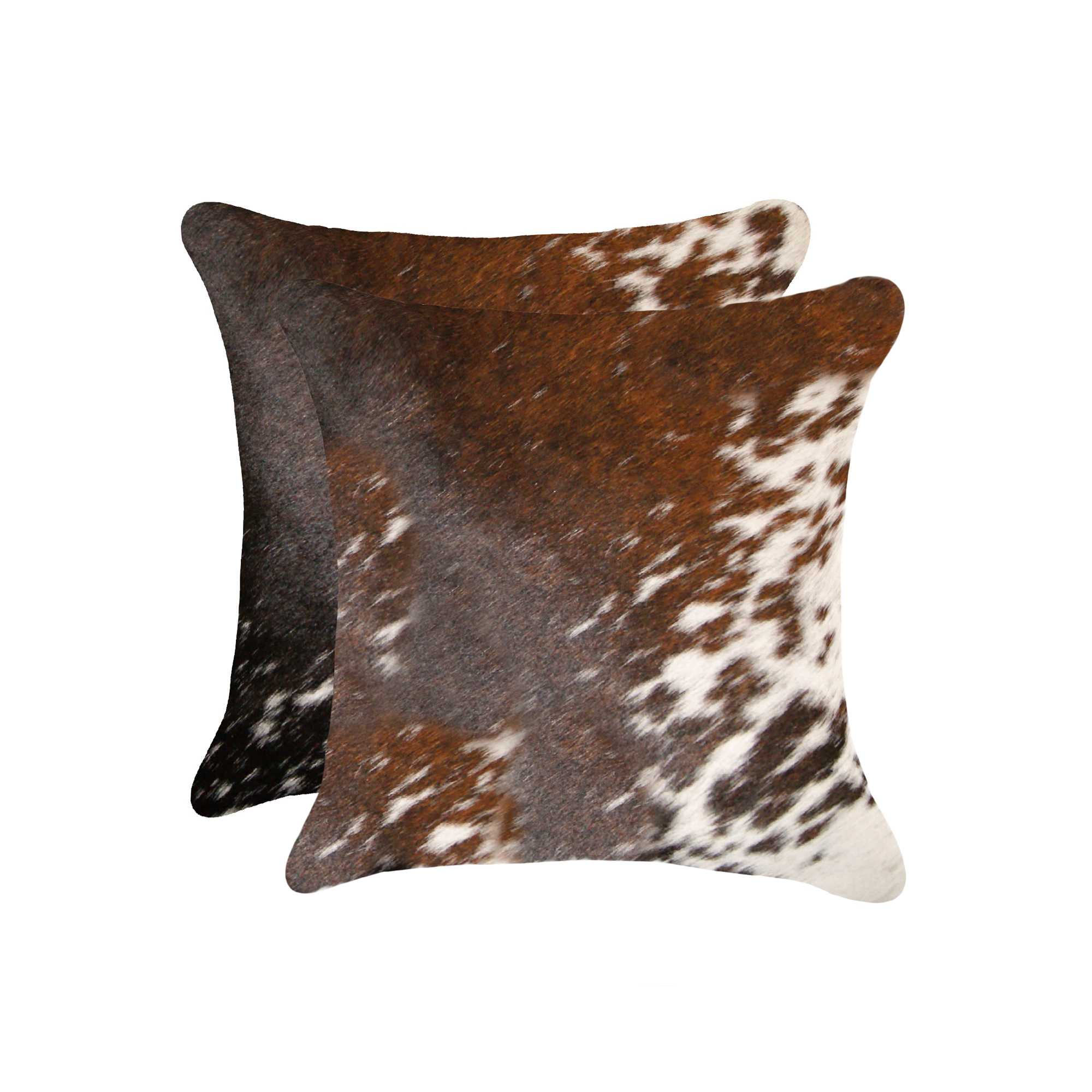 """18"""" x 18"""" x 5"""" Salt And Pepper Brown And White, Cowhide - Pillow 2-Pack"""