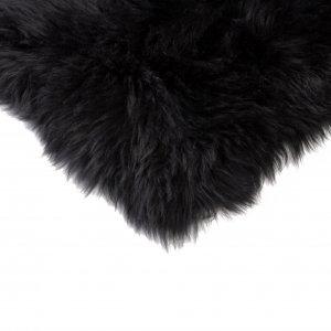 Black Natural Sheepskin Chair Seat Cover