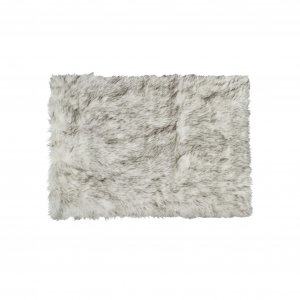 "60"" x 96"" Gradient Gray Sheepskin - Rug/Throw"