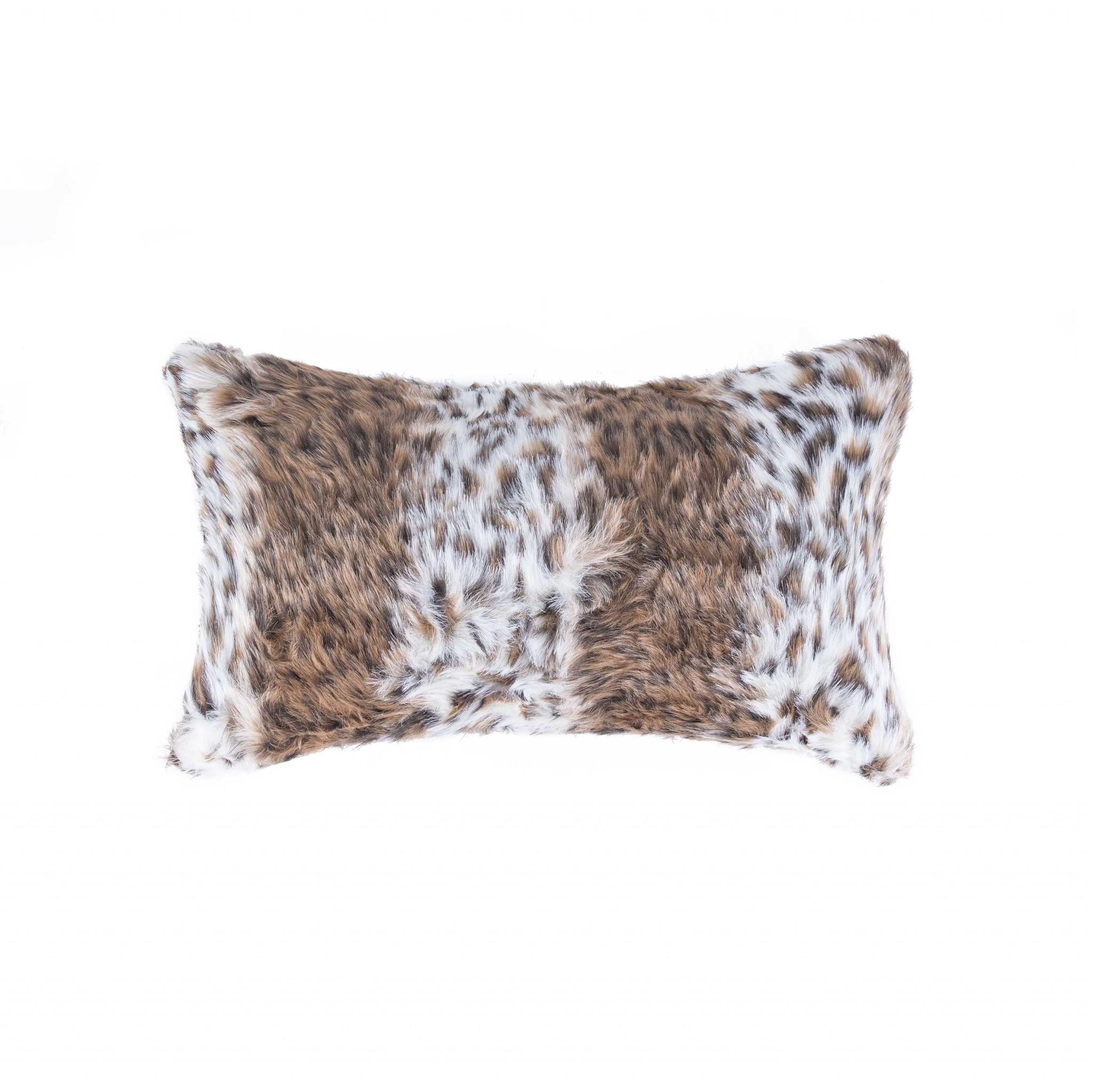 """12"""" X 20"""" Georgetown Lynx Faux Pillow"""