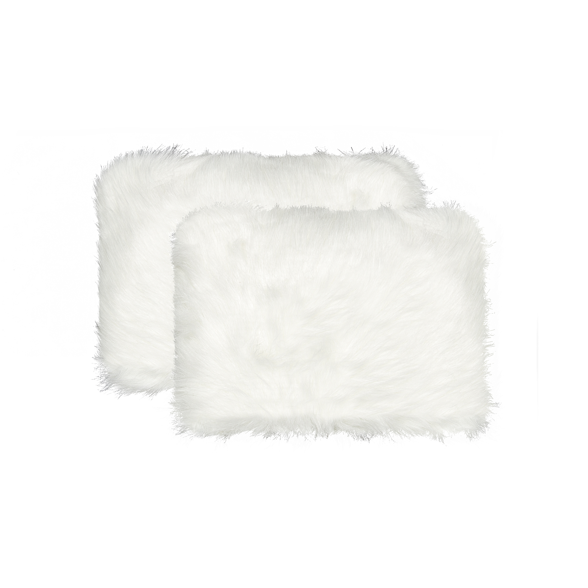 """12"""" x 20"""" x 5"""" Off White Faux - Pillow 2-Pack"""